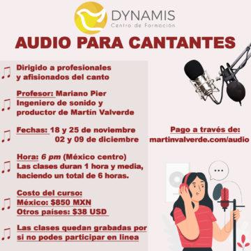 audio para cantantes presentación